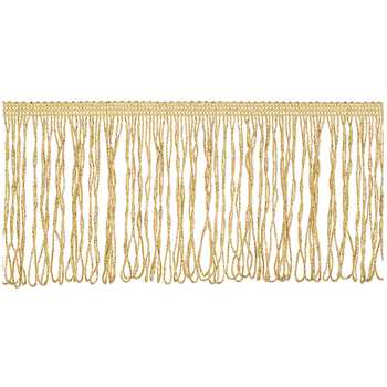 Metallic Fringe Trim - 4""